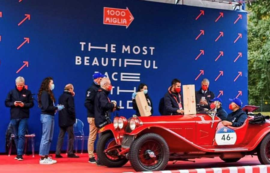 The overall winner with the starting number 46, hats off to ANDREA VESCO and ROBERTO VESCO in an Alfa Romeo 6C 1750