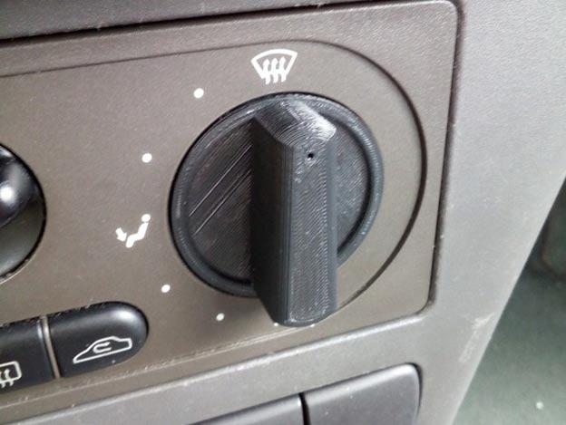 Saab 9-3 heating knob