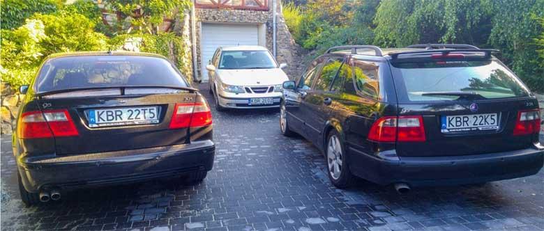 3x Saab 9-5