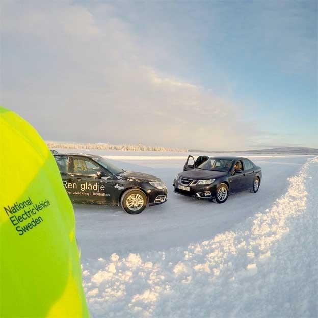 NEVS winter test 9-3 EV
