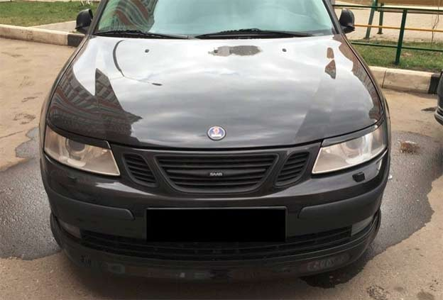 Saab 9-3 Headlight Eyebrows example