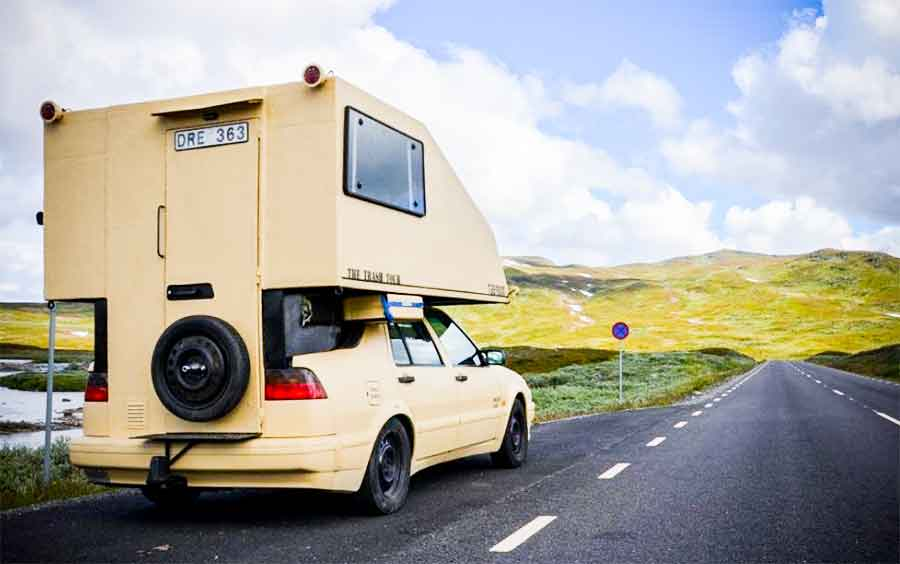 Unique Saab 9000 Toppola camper
