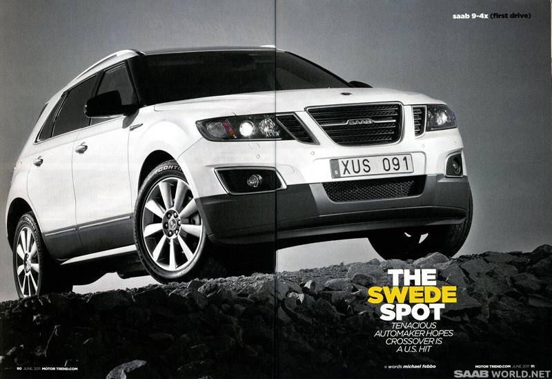 First Drive: Saab 9-4X from 2011 (Motor Trend)