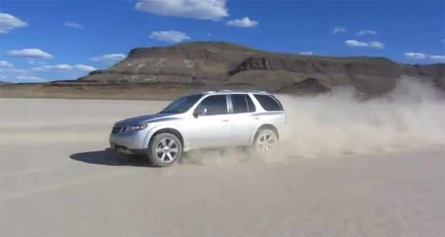 Saab 9-7X with 390 HP on a dry lakebed