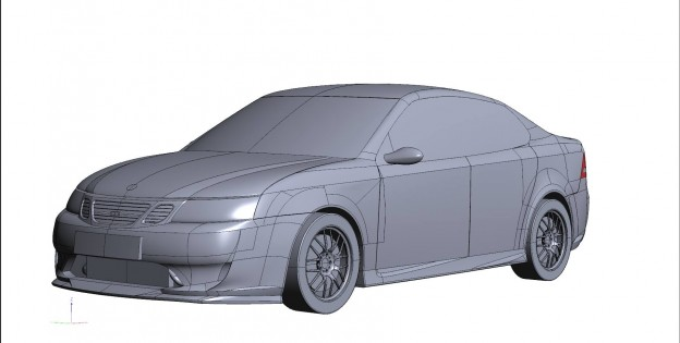 A-Zperformance design body kit for Saab 9-3