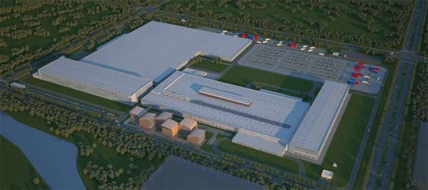 A sketch of Nevs new factory in China.
