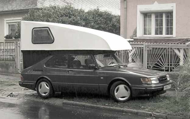Aerodinamic custom Toppola camper for Saab 900