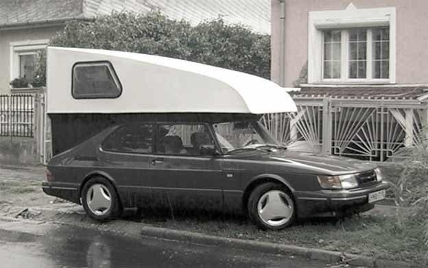Aerodinamic custom Toppola camper for Saab 900