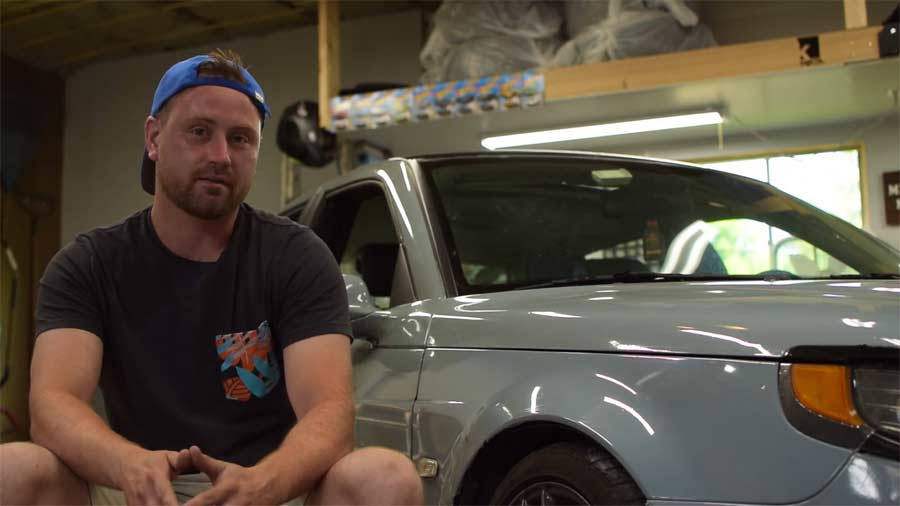 Andrew Plewak and his Project Saab
