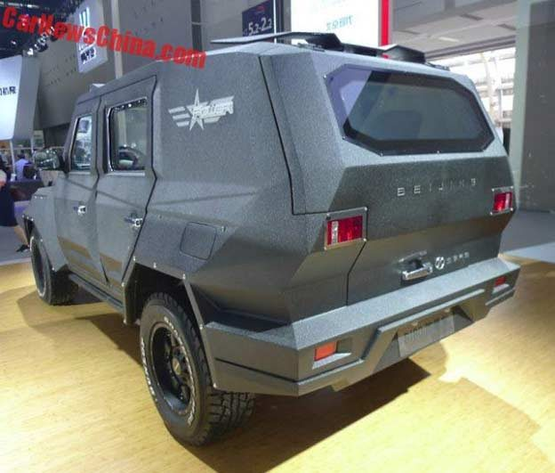 Armored BJ80 SUV with armored plating and bulletproof windows