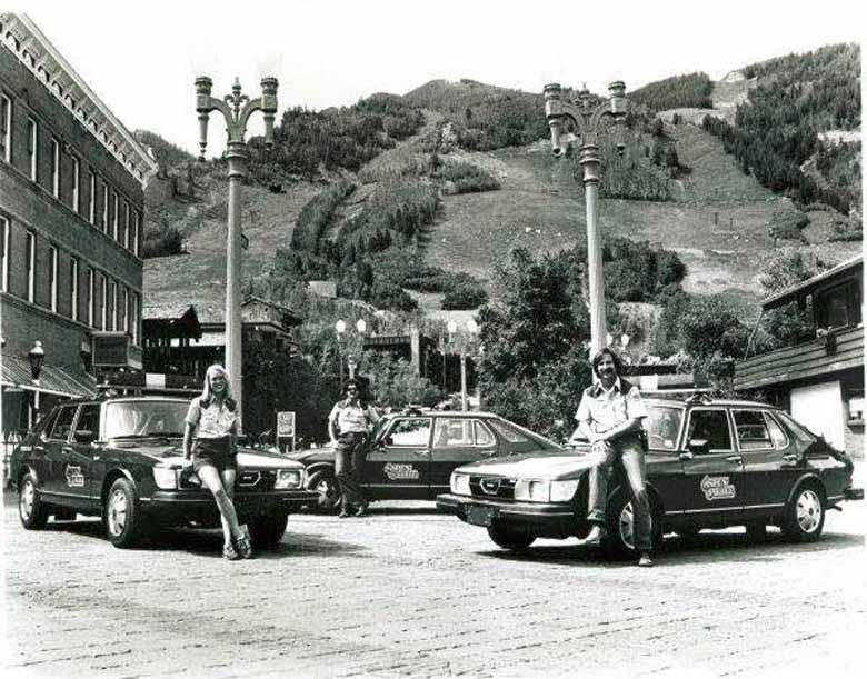 Another Aspen Police/Saab photo (1978).