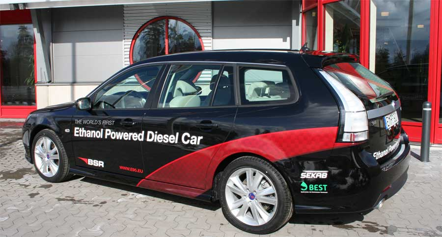 BSR has built ethanol-powered Saab diesel
