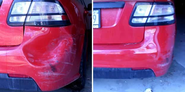 Car Dent Repair- Fixing a Plastic Bumper