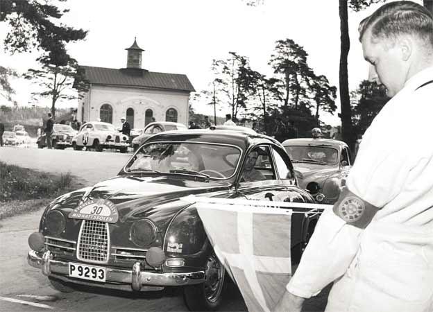 Carl-Magnus Skogh in Saab 96