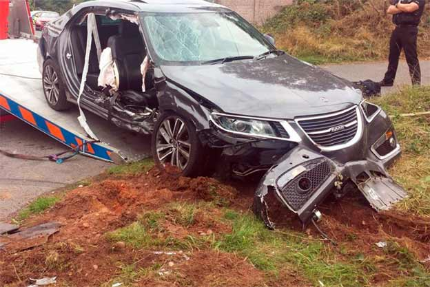 Another Saab 9-5 NG Gave His Life To Save His Owner