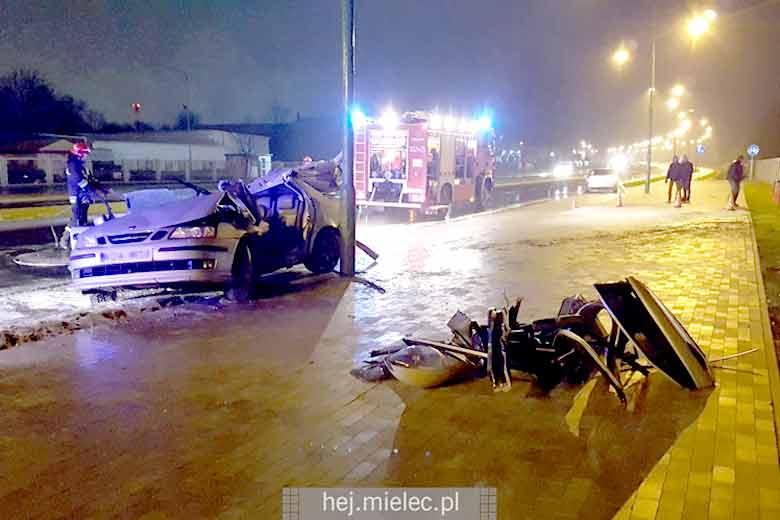 Crashed Saab