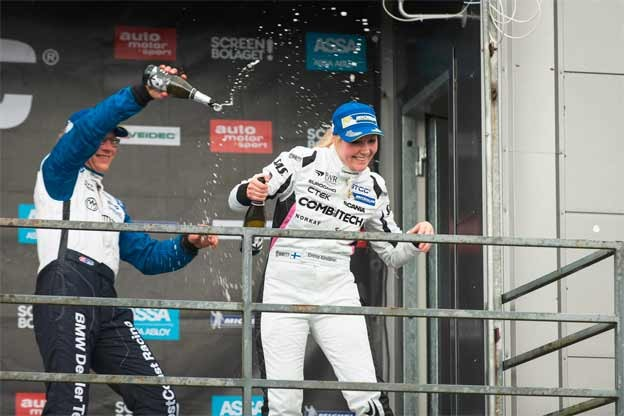 Emma Kimilainen takes her second podium in STCC