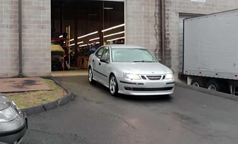 First Time on the Track: Saab 9-3 AER Racing car!