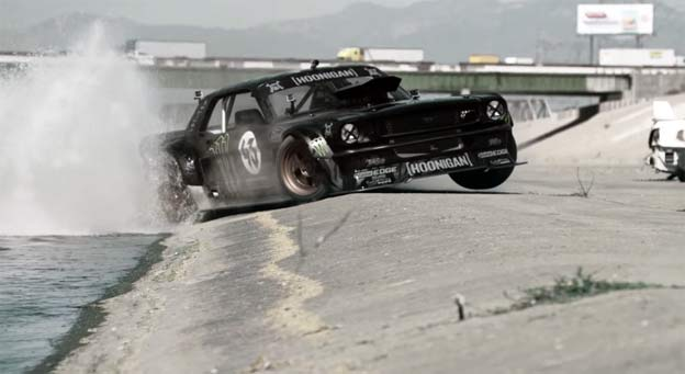 "WATCH IT! Ken Block tears up LA in 845-hp Mustang in ""Gymkhana 7"""