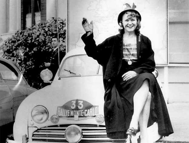 Greta Molander Saab rally driver