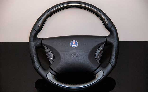 Hirsch Performance Carbon Fibre Steering wheel for Saab