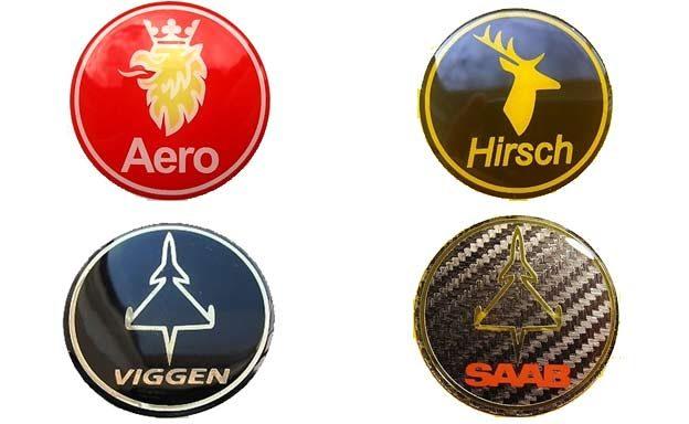 Saab Hirsch 3D stickers