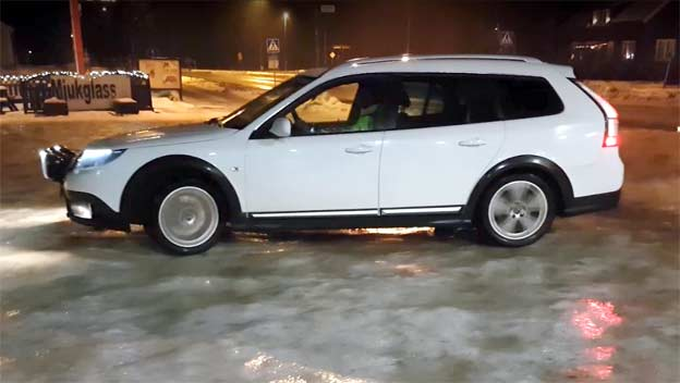How does Saab 9-3X perform on Snow and Ice?