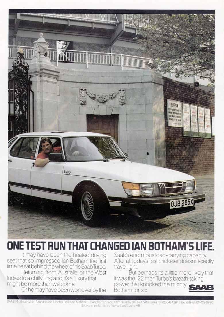 Ian Botham for SAAB