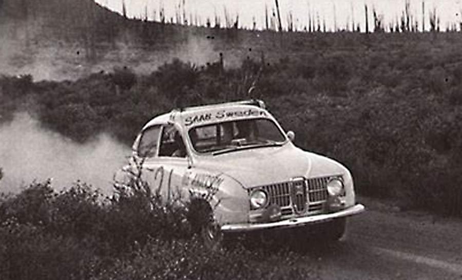 Ingvar Lindqvist's Baja Saab