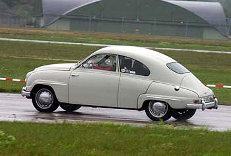 International Saab Club Meeting. Ljungbyhed august 2006. Wet racing.