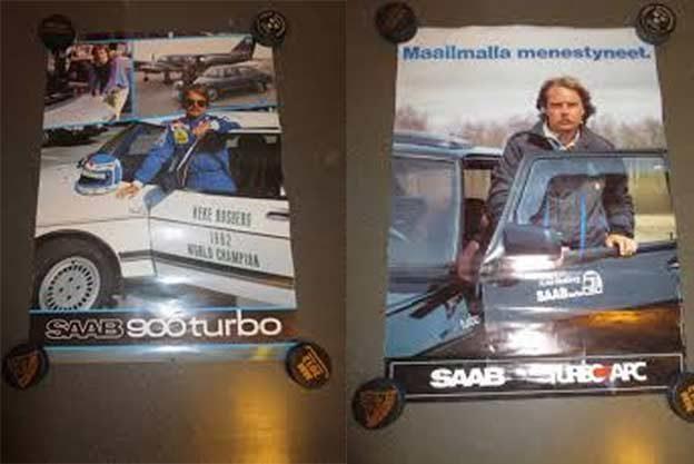 Keke Rosberg in Saab 900 Turbo APC