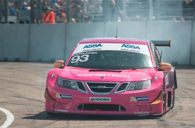 Emma Kimiläinen in New colors / Saab 9-3 STCC