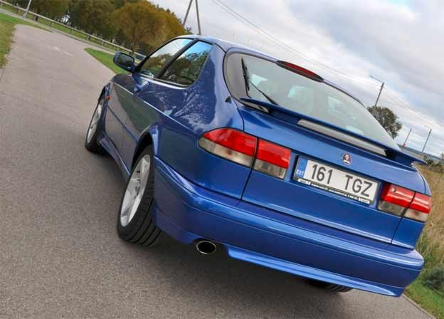 Lightning Blue Saab 9-3 Coupe Project Car for Sale