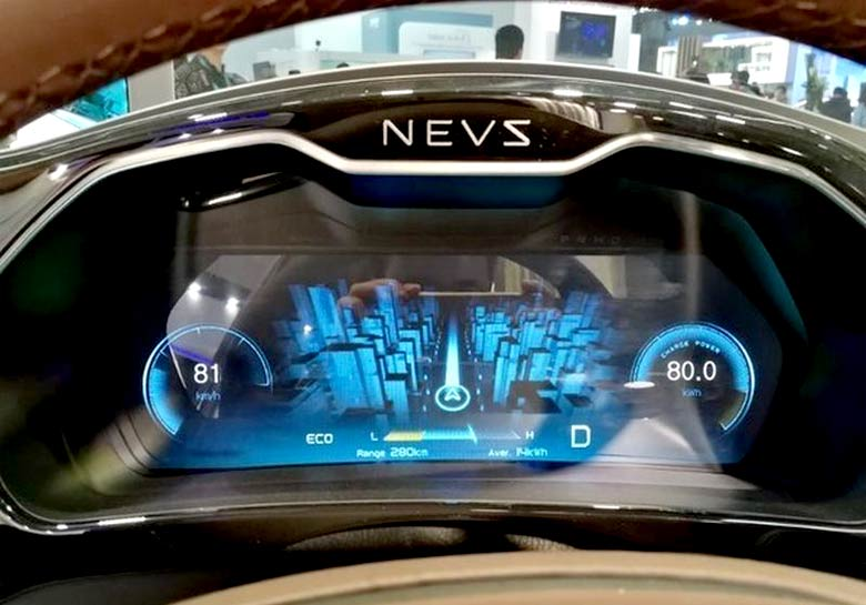 NEVS 9-3 EV Dashboard