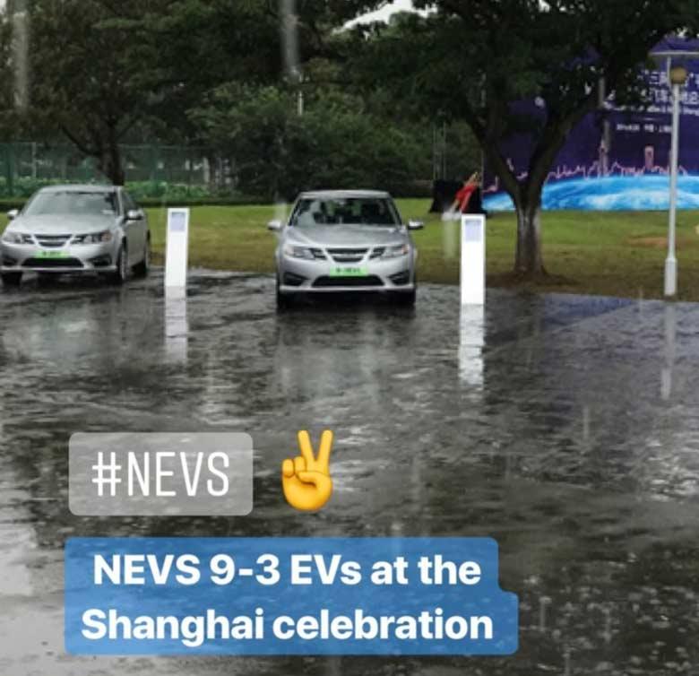 NEVS 9-3 in Shangai