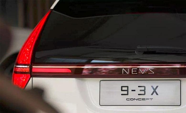 NEVS 9-3x EV SUV tailgate