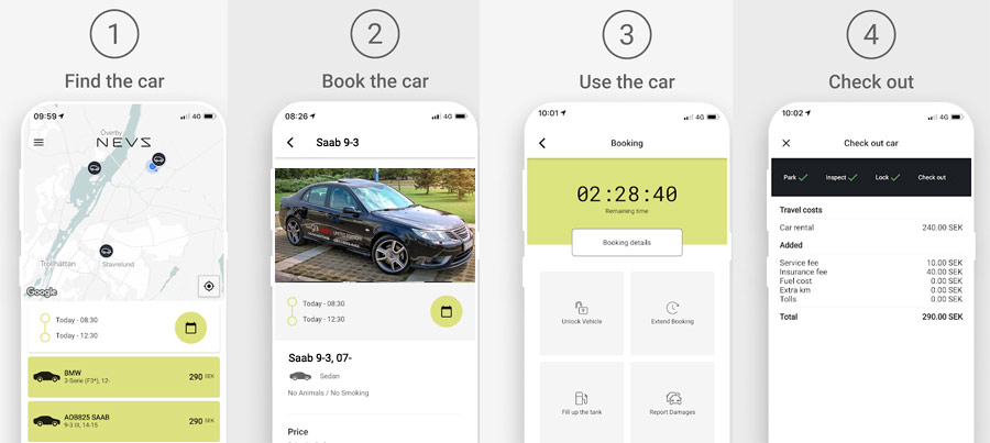 NEVS Share Application / Car Sharing