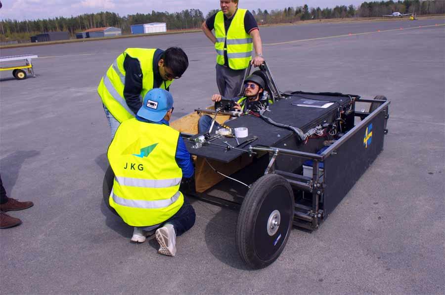 NEVS solar-powered  car