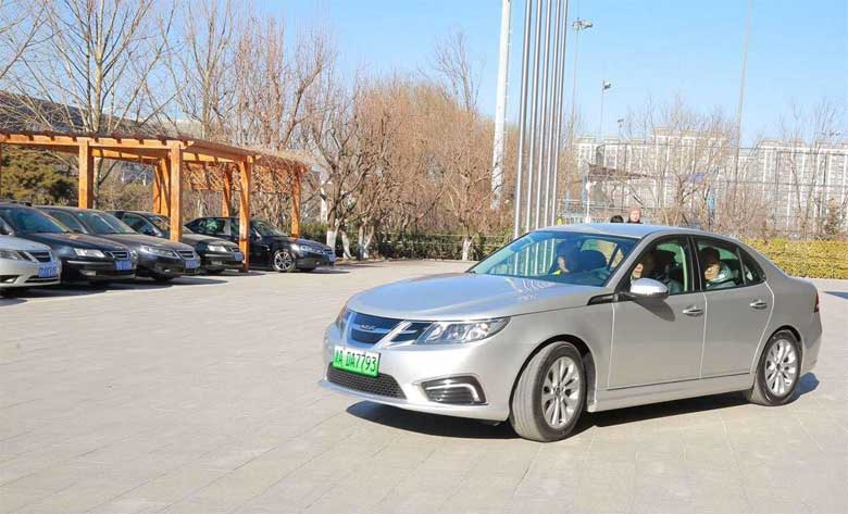 The second Saab fans gathering at NEVS in Beijing