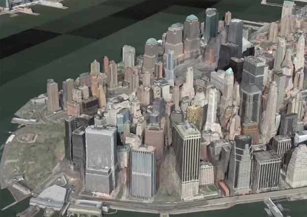 New York as seen in a Vricon promotional video.