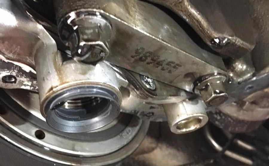 New seal fitted on Oil pump