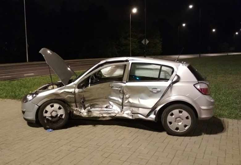 Opel Astra after accident