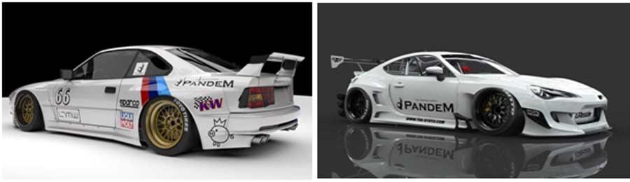 Pandem BMW e31 and Subaru BRZ