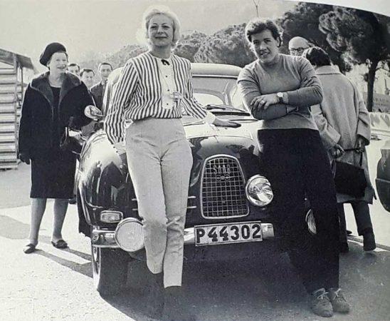 Pat Moss-Carlsson / Ursula Wirth - Saab 96 Sport / 33. Rally Monte Carlo 1964.