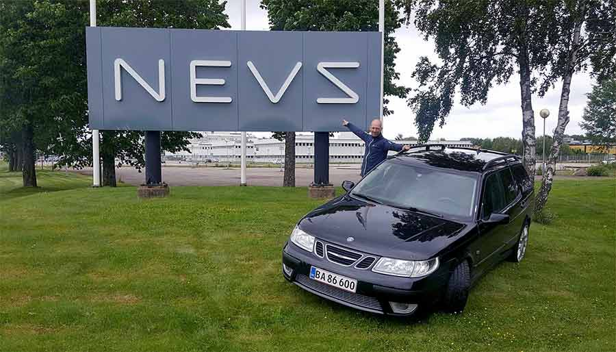 Peter Olsen and his Saab 9-5 Troll-R