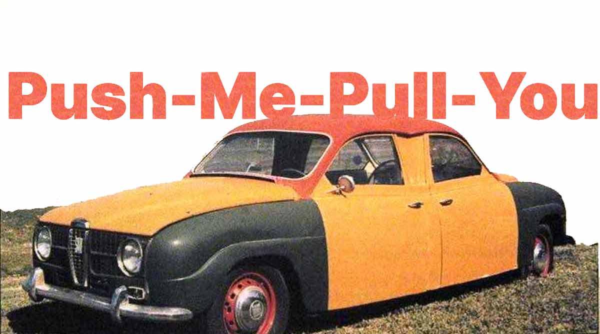 Push-Me-Pull-You Saab-96