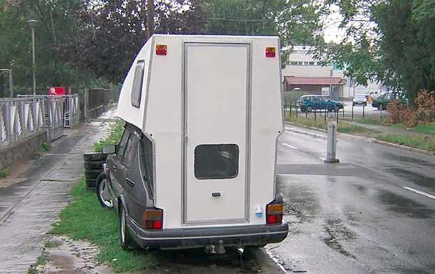 Rear and of Toppola camper