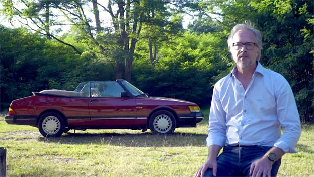 Robin Sommers and his Saab 900 Convertible