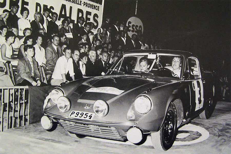 SAAB Sonett II, Pat Moss-Carlsson / Elisabeth Nyström, Coupe des Alpes 1966