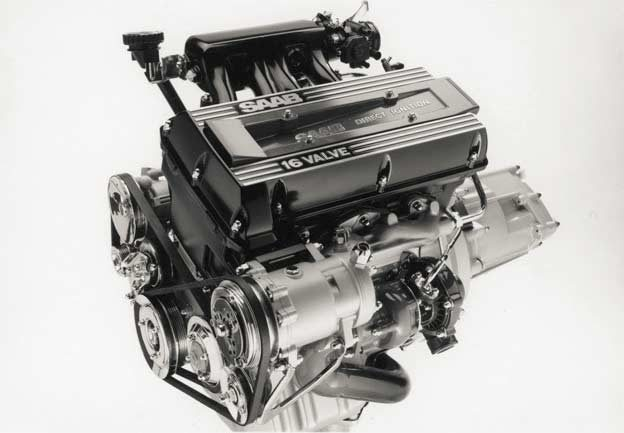 Saab 16-valve engine with the Direct Ignition (DI) system from 1987